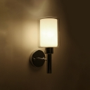 Inner Glass Shade Wall Sconce Contemporary Concise 1 Head Wall Mount Light in Chrome