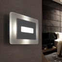 Acrylic Rectangle Wall Mount Light Modern Design 1 Light Wall Lamp for Sitting Room