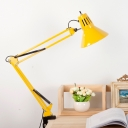 Red/Yellow Cone Reading Light Modern Design Rotatable Metal 1 Head Desk Lamp for Children Room