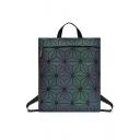 Women's New Stylish PU Laser Geometric Portable Backpack 33*4*38cm