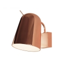 Rose Gold Dome Wall Lamp Post Modern Adjustable Steel 1 Light Wall Sconce for Bedroom