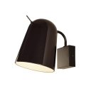 Rotatable Elongated Dome Wall Lamp Simplicity Designers Style Steel Night Light in Black