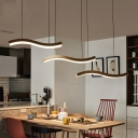 Wave Pendant Light Simplicity Acrylic Multi Light Suspended Light for Living Room