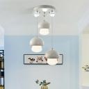 Mushroom Hanging Lamp Macaron Multicolored Plastic LED Suspended Light for Kids Children Room