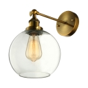 Globe Shade LED Mini Wall Light Sconce with Clear Glass