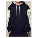 Teenagers Popular Letter I KNOW WHAT I NEED Print Back Floral Colorblock Loose Casual Drawstring Hoodie