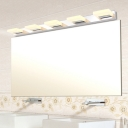 Acrylic Bar Wall Light Simplicity 2/3/5 Lights LED Makeup Lighting Fixture in Warm/White