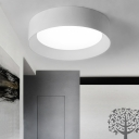 Acrylic Ring Ceiling Light Modern Fashion Single Head Flush Mount Lamp Fixture in White