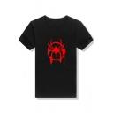 Popular Spider Man Print Basic Short Sleeve Regular Fit Cotton Unisex T-Shirt