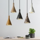Concreted Conical Ceiling Light Designers Style Modern Suspension Light for Living Room