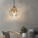 Diamond Suspended Lamp Contemporary Clear Glass Decorative Drop Light for Living Room