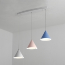 Funnel Suspended Lamp Contemporary Acrylic 3 Light LED Pendant Lamp for Children Room