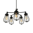 LOFT Cage Bulb Style Burt LED Pendant Light with 5 Lights