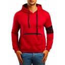 New Stylish Fashion Number 424 Embroidered Patched Long Sleeve Zippered Pocket Front Fitted Hoodie for Men