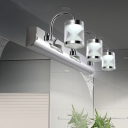 Hourglass Makeup Lighting Fixture Modern Stainless Multi Light Vanity Light in Warm/White