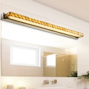 Modern Fashion Bar Makeup Mirror Light Crystal LED Vanity Light for Bathroom Mirror