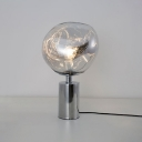 Post Modern Table Lamp Acrylic Single Light LED Desk Lamp in Silver for Study Room