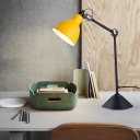 Colorful Modern Swing Arm Desk Light Metal Single Light Standing Desk Light for Kids