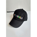 Fashion Colorful Letter ASTROWORLD Embroidered Hip Hop Style Unisex Cap