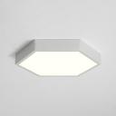 Black/White Hexagon Flush Mount Light Modern Design Metal LED Ceiling Lamp for Living Room