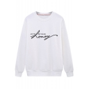 Fashion Letter JUST THE WAY YOU ARE HONEY Printed Crewneck Long Sleeve Sweatshirt