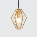 Clear Glass Diamond Pendant Lamp Simplicity Modern Hanging Light for Dining Room