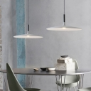 Nordic Style Disc LED Suspension Lights Aluminum 1 Light Hanging Lamp in Painted Finish 10