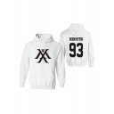 New Arrival Letter Number Printed Long Sleeve Chunky Pullover Hoodie