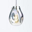 Chrome Hanging Lamp Contemporary Glass Single Light Pendant Lamp for Restaurant