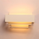 Rectangle Wall Light Sconce Stylish Modern Iron Single Light Wall Mount Light in White