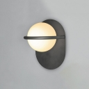 Modern Design Ball Wall Lighting White Glass 1 Head Wall Light Sconce for Sitting Room