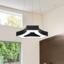 Can be Spliced Metal Chandelier Modern White/Warm/Neutral Light Black Finish Hanging Pendant