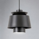 Black Cone Suspended Lamp Designers Style Modern Metal Pendant Light for Bedroom