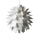 Plastic Pinecone Suspended Light Modern Design Ceiling Light in White for Bedroom