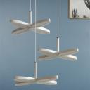 Clover LED Hanging Pendant Lights Minimalist Acrylic Ceiling Pendant Light in White Finish