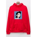New Long Sleeve Cartoon Figure Printed Leisure Hoodie with Kangaroo Pocket