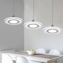 Disc Pendant Lamp Contemporary Acrylic Multi Light Hanging Lamp for Kitchen Living Room