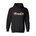 Stylish Cool Unique Letter THUNDERCATS Printed Long Sleeve Fitted Boxy Hoodie