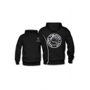 Hot Popular Letter Graphic Game Logo Print Long Sleve Men's Boxy Hoodie