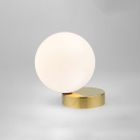 1 Light Sphere Flush Light Fixtures Contemporary Milky Glass Flush Mount Lighting in Gold