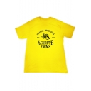 New Stylish Letter FARMS Printed Short Sleeve Loose Graphic Tee