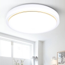 Drum LED Flush Light Nordic Style Simple Acrylic Lampshade Ceiling Fixture in Warm/White