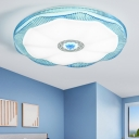 Modern Chic Scalloped Ceiling Light with Flower Acrylic Lampshade LED Flushmount in Warm/White