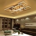 Metal Geometric LED Lighting Fixture Modern Chic 6/7/9 Lights Ceiling Light in Warm/White