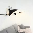 Rotatable 1 Light Duckbill Wall Light Modern Design Metal Wall Mount Fixture in Black for Corridor
