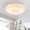 Geometric LED Flush Light Nordic Style Flush Mount Light with Acrylic Lampshade in Warm/White