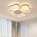 Loving Heart LED Ceiling Light Nordic Style Metallic Flush Mount in Warm/White/Neutral