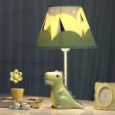 Coolie Standing Table Light with Resin Green Dinosaur Boys Room 1 Head Desk Lamp
