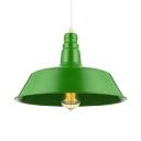 Green 1 Light Barn Style Pendant Lighting