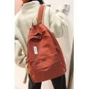 31*15*41cm Vintage Canvas Simple Patched Girls Fashion Backpack